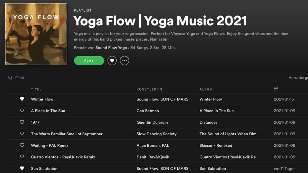 yoga flow playlist
